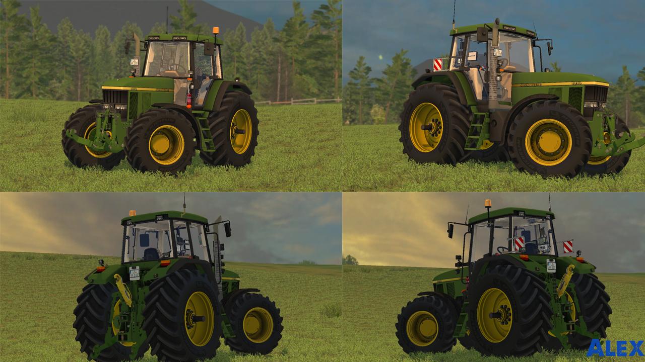 Мод трактора John Deere 7710-7810 Farming Simulator 15