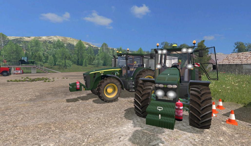 Мод трактор John Deere 8530 v 1.0 Farming Simulator 2015