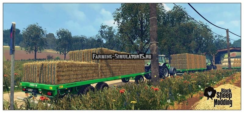 Мод прицеп Joskin Wago TRAILED 10m v 1.0 Автозагрузка Farming Simulator 2015