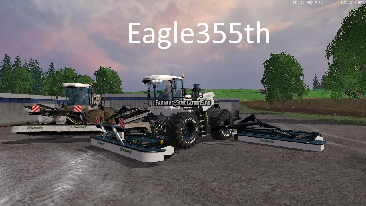 Мод косилка KRONE BIG M500 V2.6 Farming Simulator 15