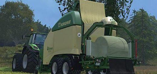 Мод пресс подборщик Krone Ultima CF 155 XC Farming Simulator 15