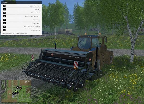 Мод сеялка KUHN SEDEER 5M Farming Simulator 2015