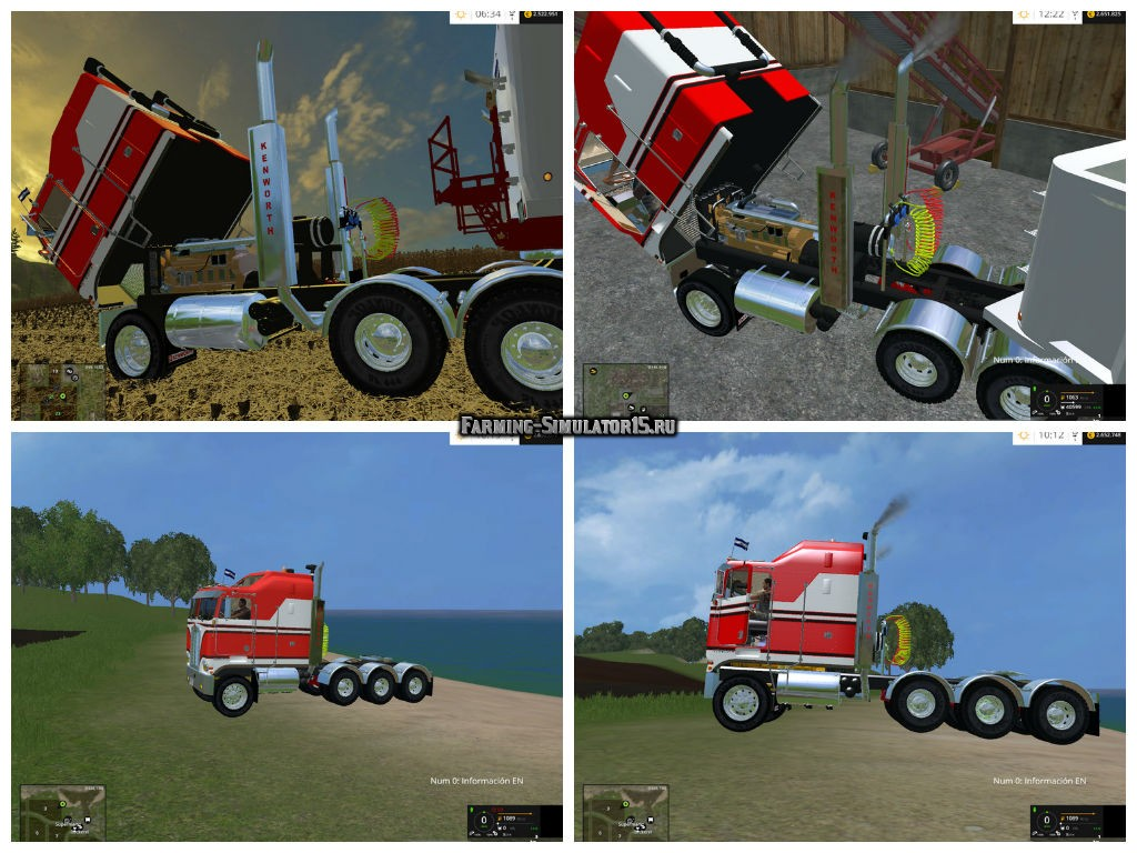 Мод грузовик Kenworth K100 CabOver v 2.1 Farming Simulator 2015