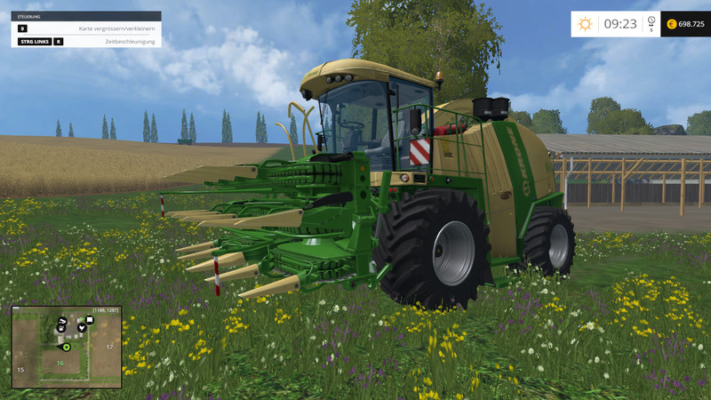 Мод комбайн Krone Big X 1100 v 1.4 Farming Simulator 2015