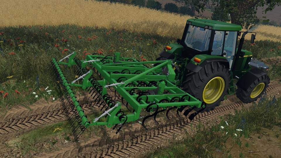 Мод культиватор Laumetris suspended cultivator KLL-4 v 1.0 Farming Simulator 2015