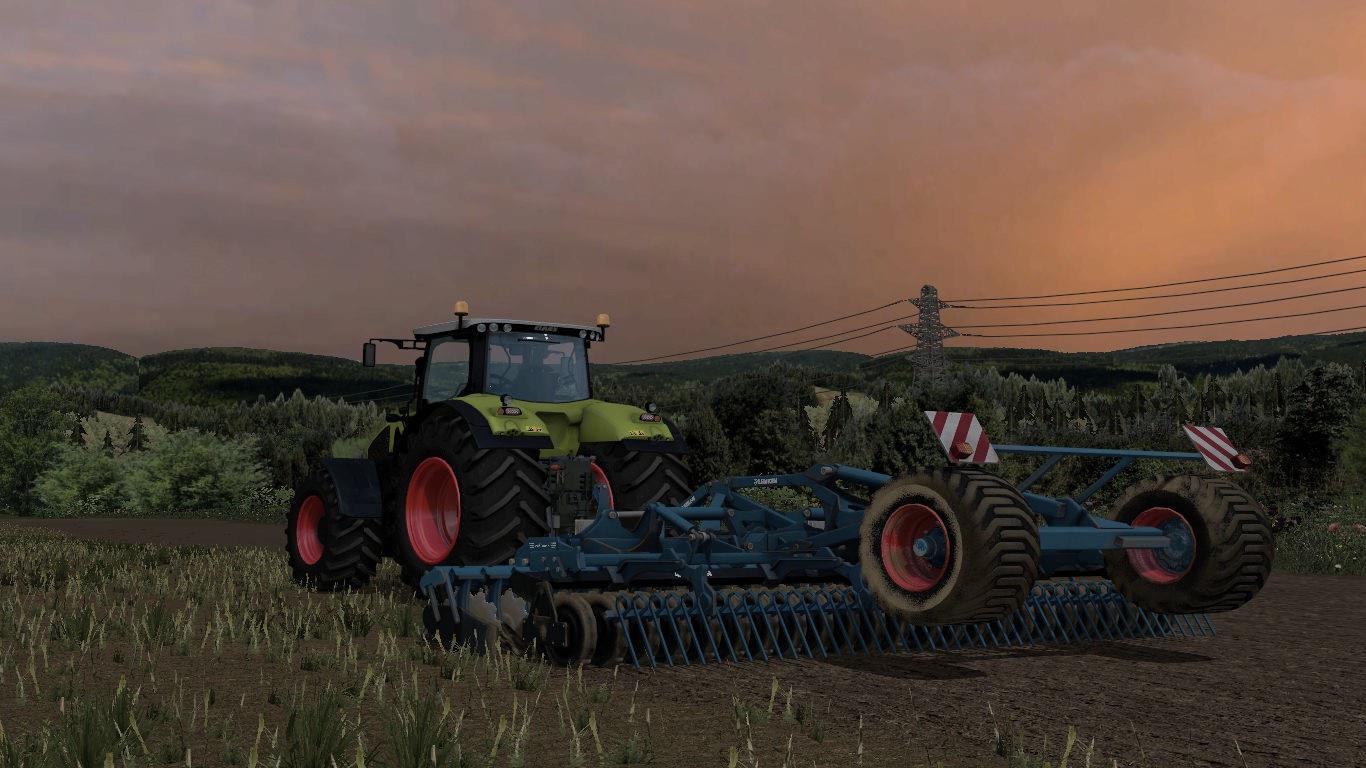 Мод культиватор Lemken Heliodor 8/600KA v 1.1 Wiht WheelShader Farming Simulator 2015