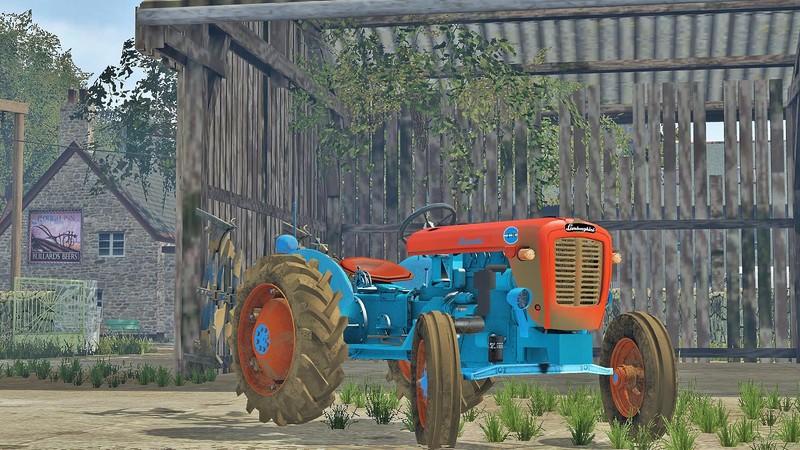 Мод трактор Lamborghini 1R v 1.0 Farming Simulator 15