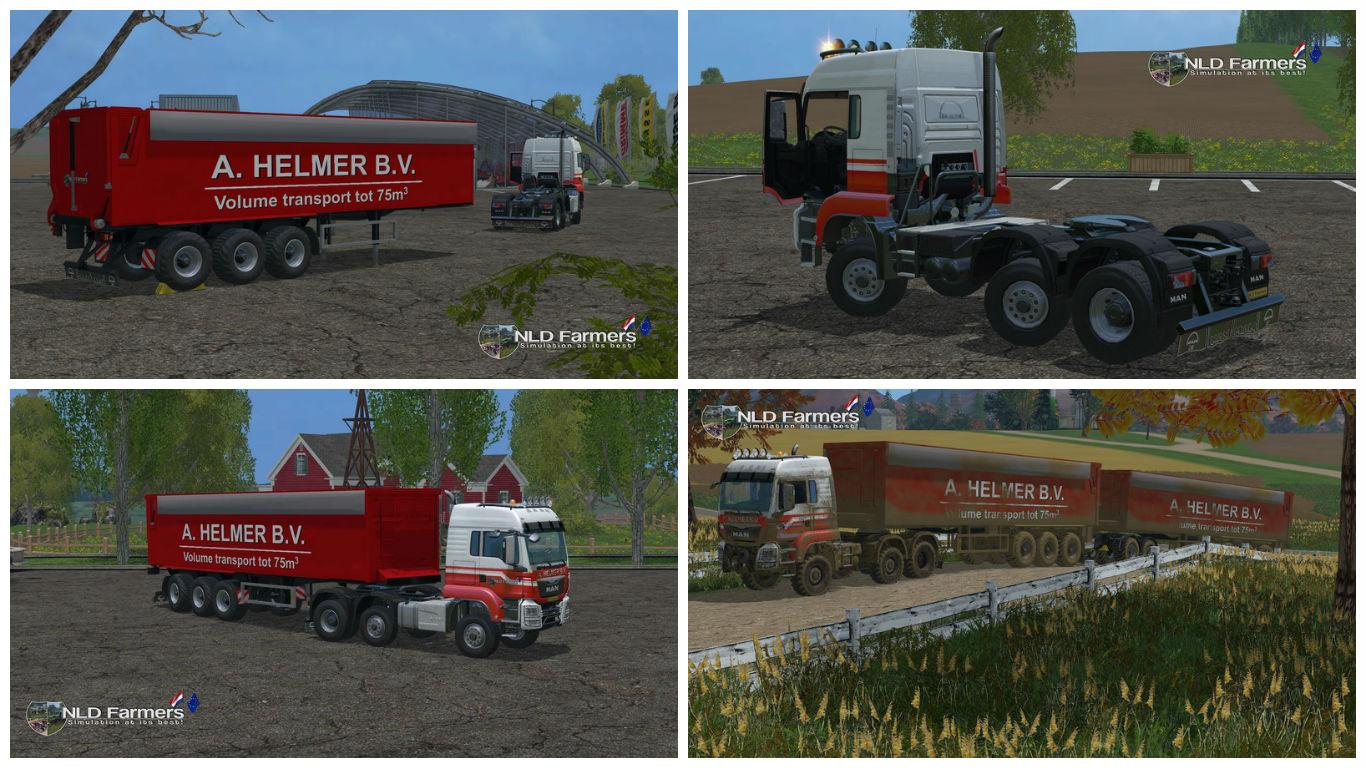 Мод MAN A Helmer B.V. 75m3 v 1.1 Farming Simulator 2015