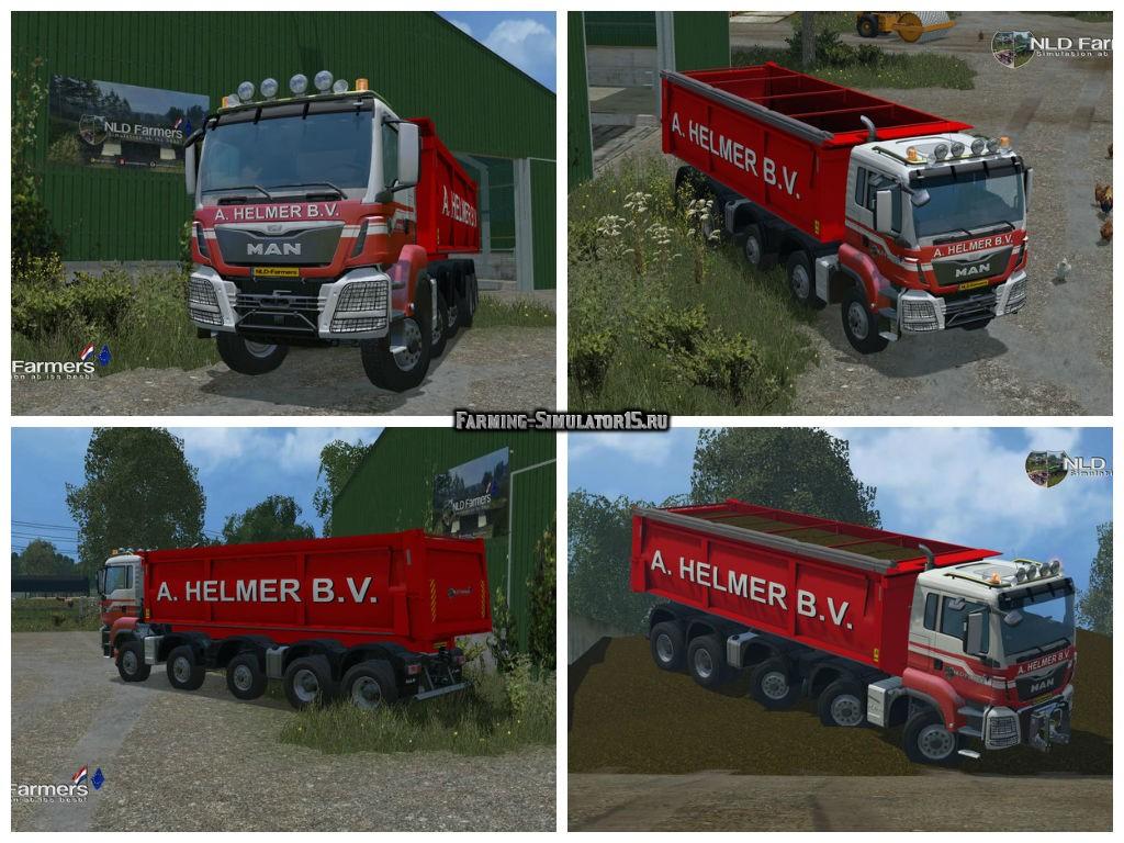 Мод грузовик MAN A Helmer B.V. v 1.1 Farming Simulator 2015