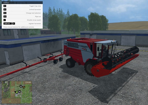Мод комбайн Massey Ferguson Cerea 7278 Farming Simulator 15