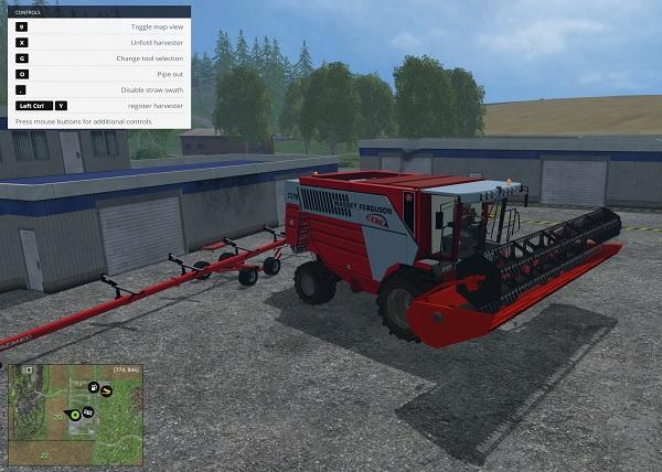 Мод комбайн Massey Ferguson Cerea 7278 Farming Simulator 15