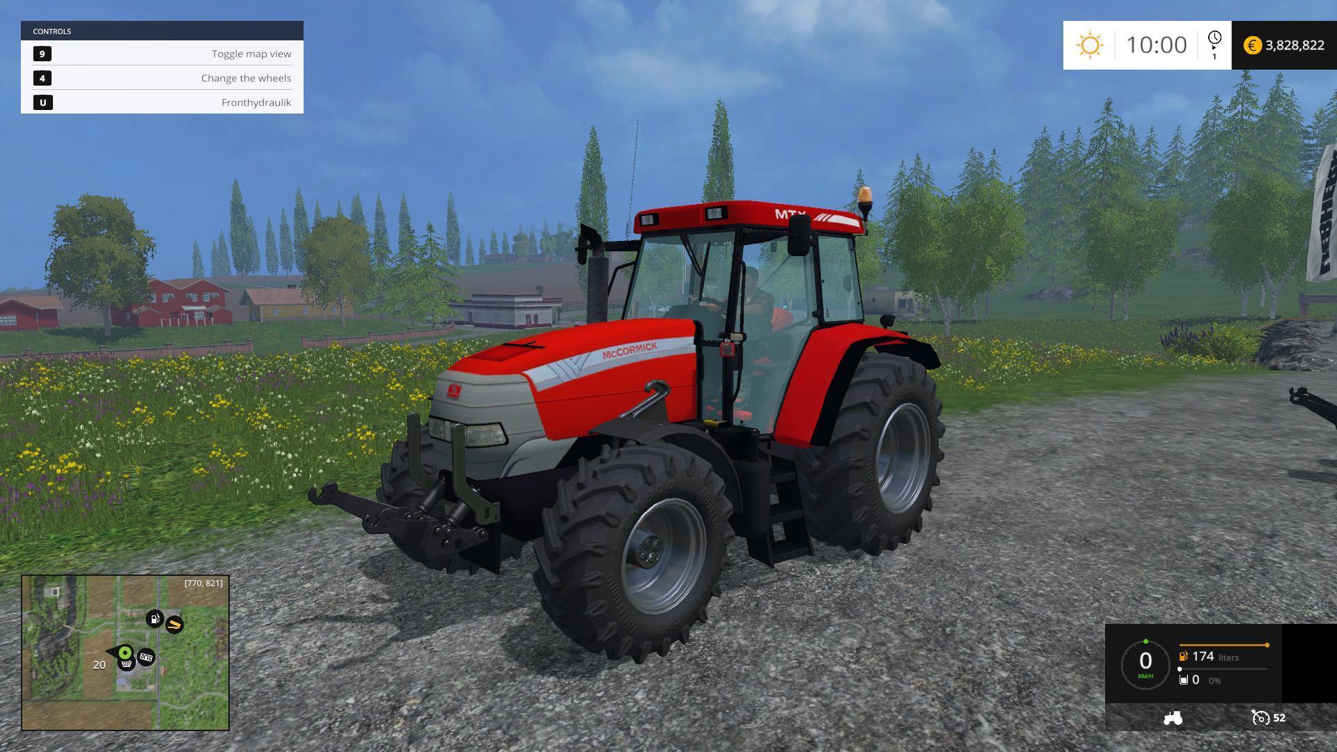 Мод трактор McCormick MTX 150 v 1.0 Farming Simulator 2015