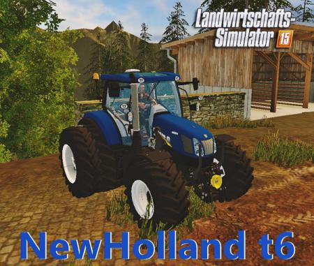Мод трактор NewHolland T6 Bluepower Farming Simulator 15