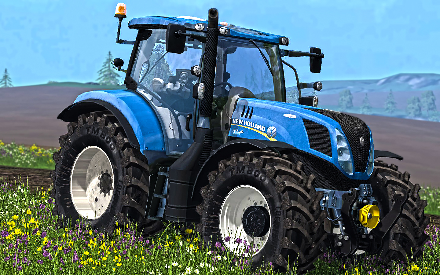 Мод трактор New Holland T7.240 v 2.1 Farming Simulator 15