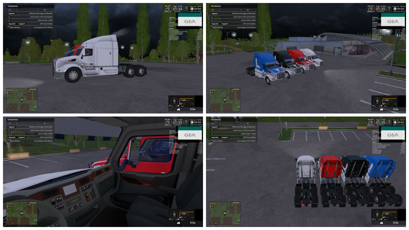 Мод тягач Peterbilt 579 v 1.0 Beta Farming Simulator 15