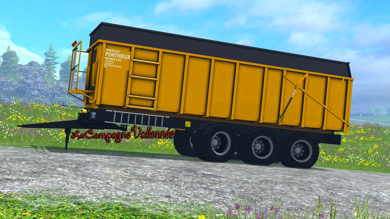 Мод прицеп Ponthieux 24 tonne v 0.9 Yellow Beta Farming Simulator 15