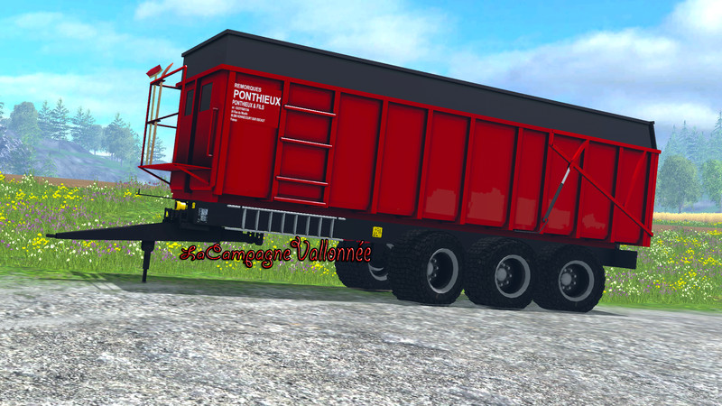 Мод прицеп Ponthieux 24 tonne v 0.9 Red Beta Farming Simulator 2015