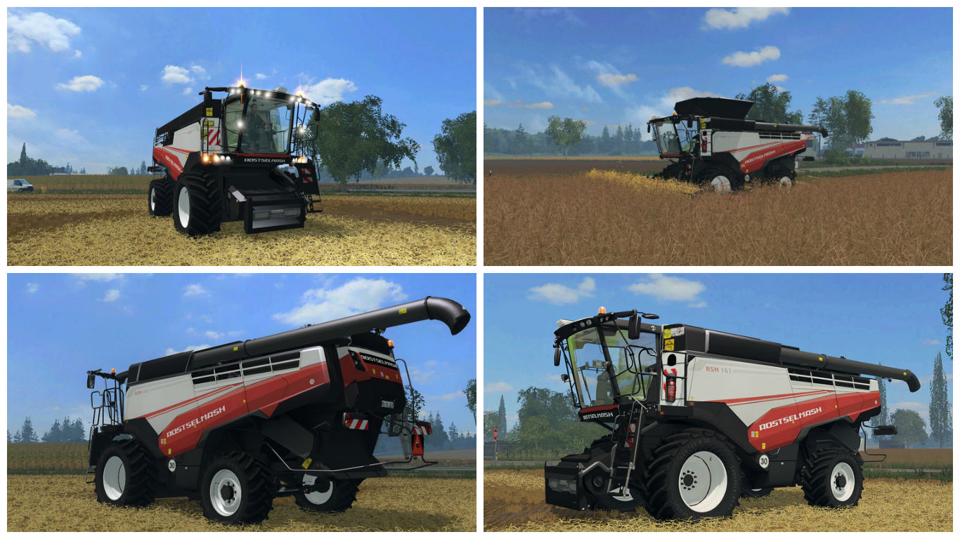 Мод комбайн Rostselmash RSM 161 v 1.0 Farming Simulator 15