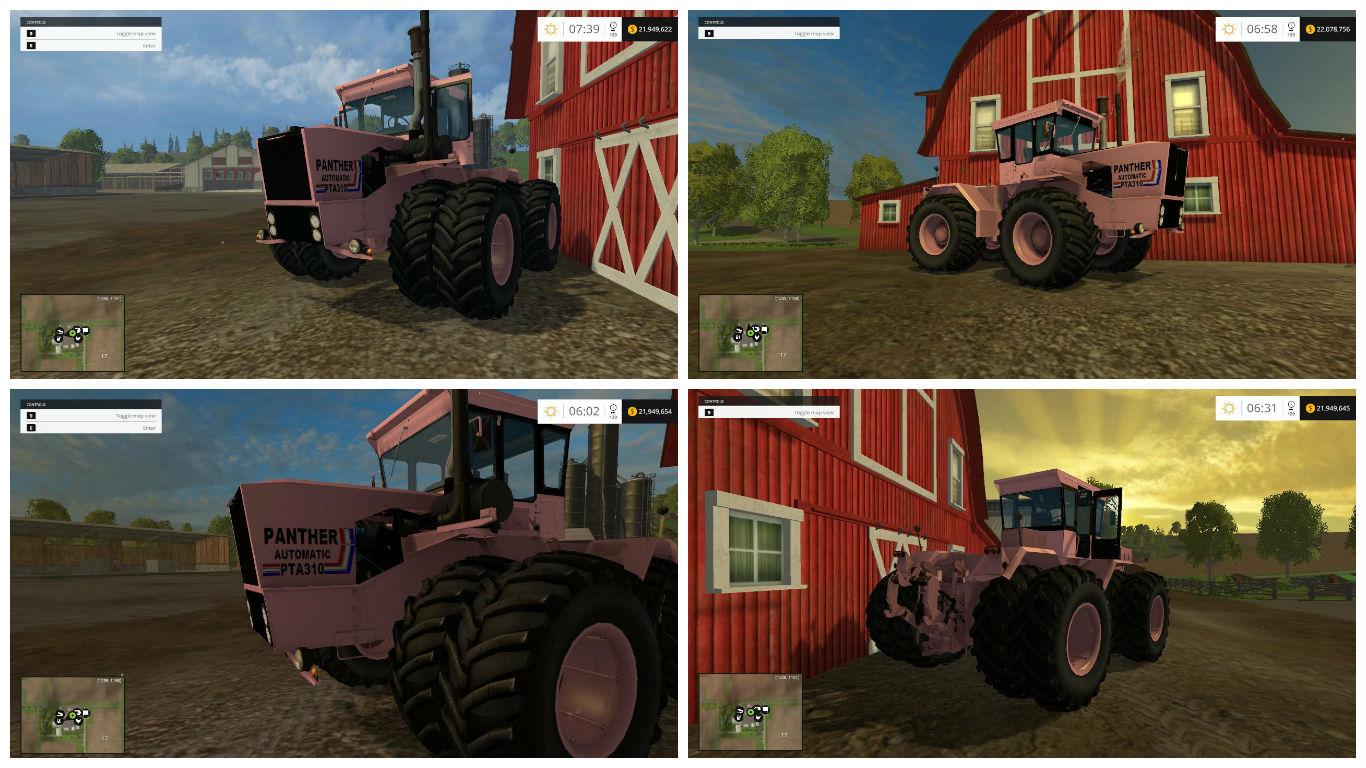 Мод трактора STEIGER PINK PANTHER V1.0 Farming Simulator 15