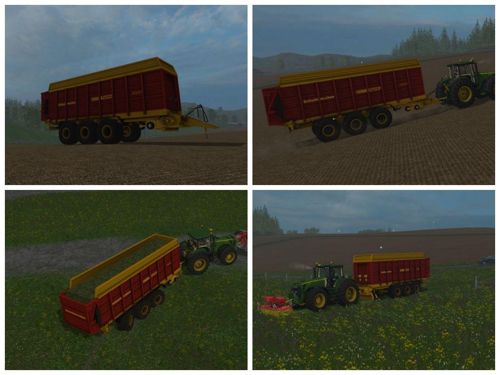 Мод прицеп Schuitemaker Rapide 3000 v 1.0 Farming Simulator 15