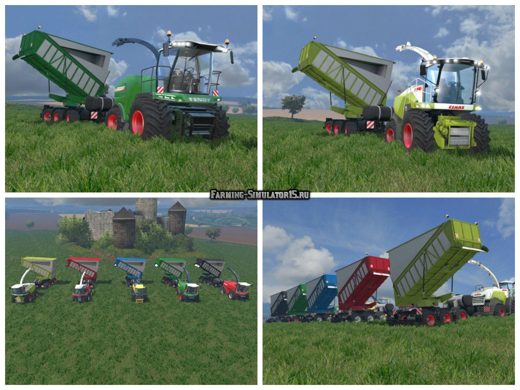 Мод прицепы Silage Cargo Trailers v3.1 Farming Simulator 15