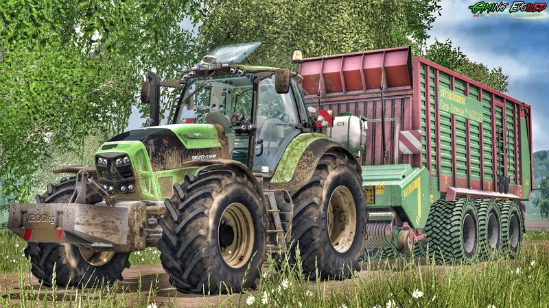 Мод прицеп Strautmann Tera-Vitesse 4601DO Tridem v 2.0 WheelShader Farming Simulator 15