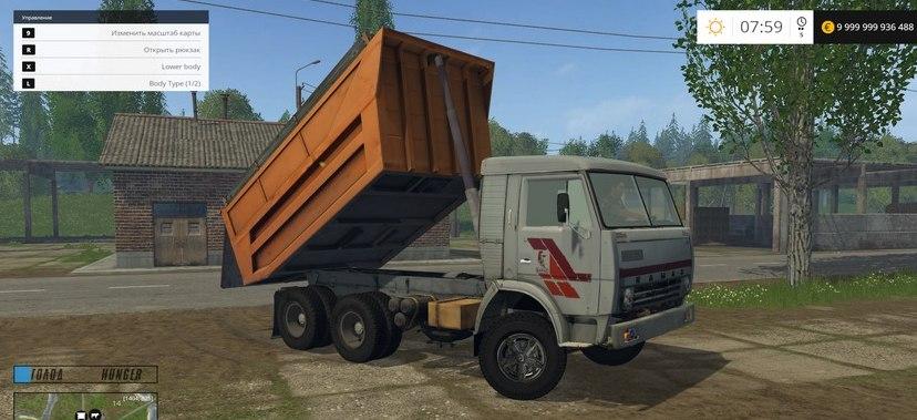 Мод грузовик КамАЗ 55111 Фермер Симулятор 2015