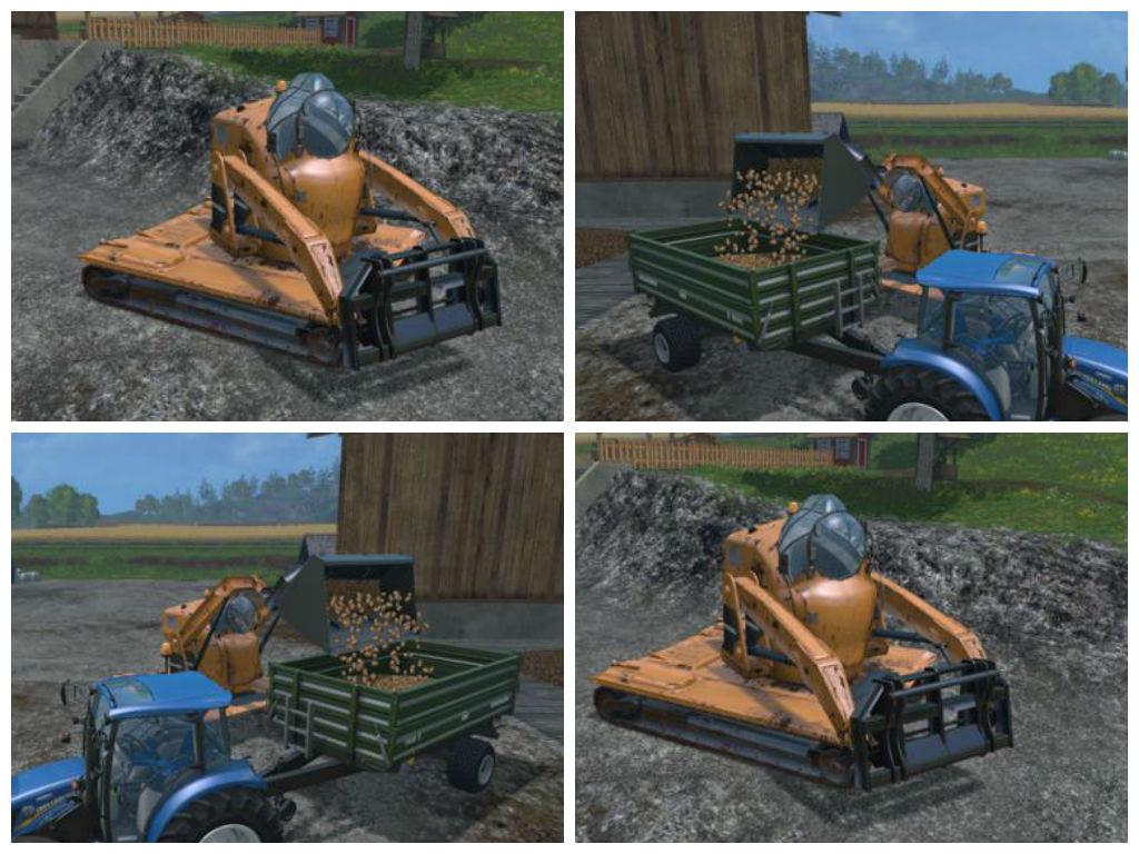 Мод погрузчик Vault-Tec Megaloader v 1.0 Farming Simulator 15