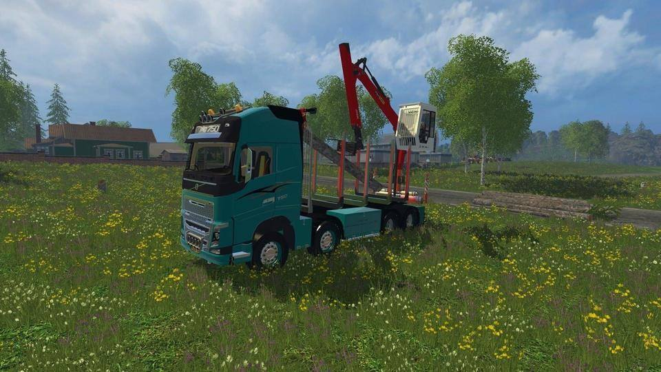 Мод VOLVO 750FH FOREST V1.0 Farming Simulator 15