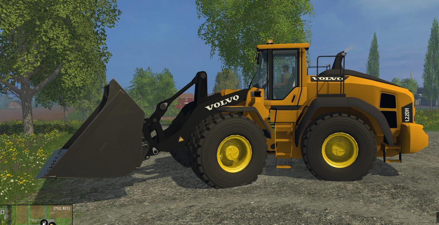 Мод погрузчик VOLVO L220H V2 Farming Simulator 2015