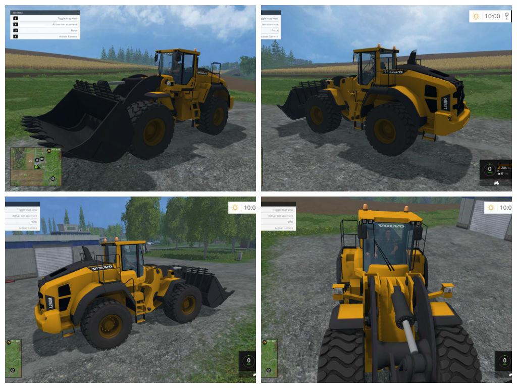 Мод погрузчик VOLVO L250H V1 Farming Simulatro 2015
