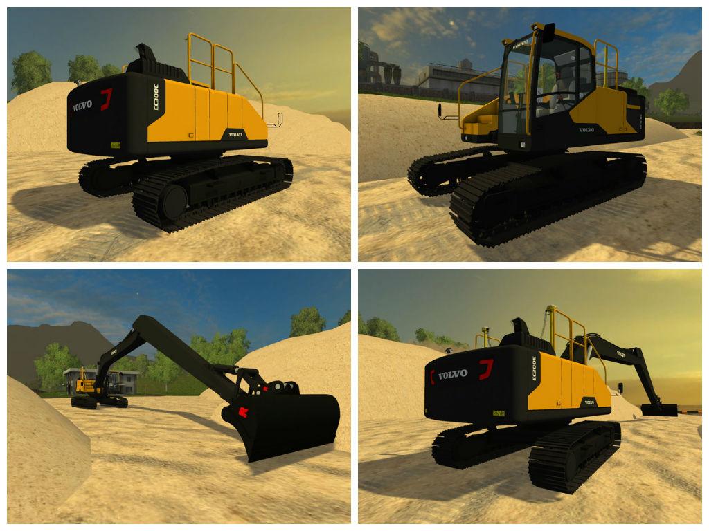 Мод экскаватор Volvo ec300e Long Reach V 1.1 Farming Simulator 15