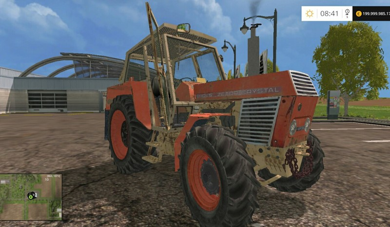 Мод трактор Zetor Crystal 8045 v 1.0 Farming Simulator 15