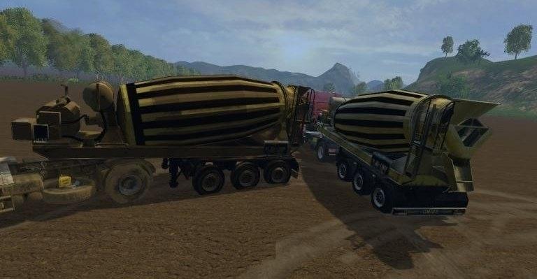 Мод бетономешалка Liebherr Farming Simulator 2015