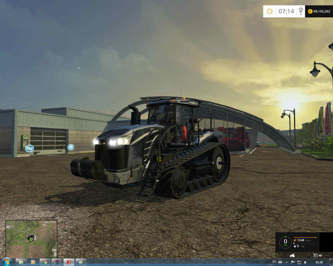 Мод трактор Cat Challenger MT875 v 1.3 New Script Farming Simulator 2015
