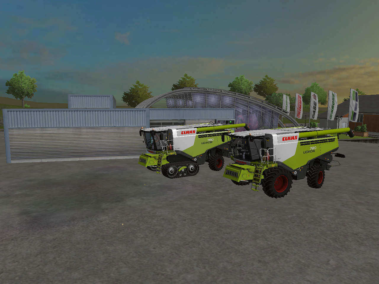 Мод комбайны FS15 Claas Lexion780 Pack Farming Simulator 2015