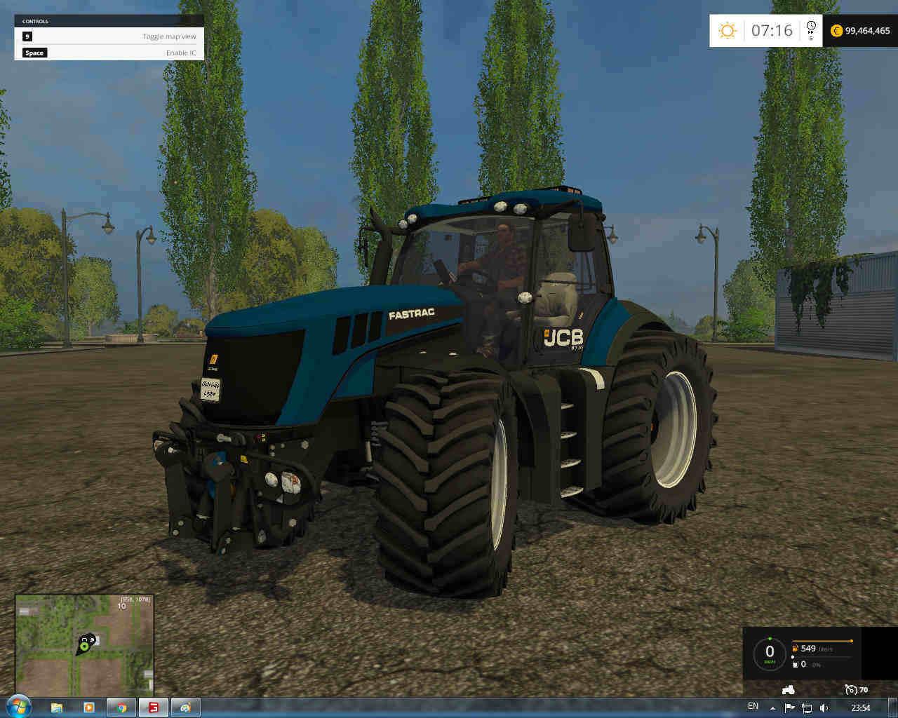 Мод трактор JCB Fastrac 8310 V 4.2 Farming Simulator 2015