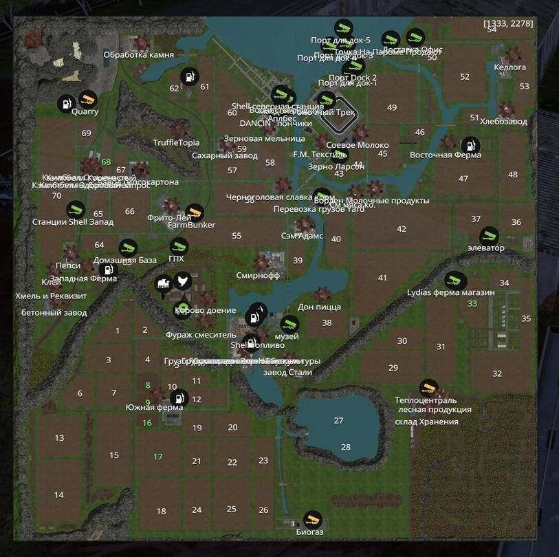 Мод карта Pleasant Valley Rivers v1.4.0 Farming Simulator 15