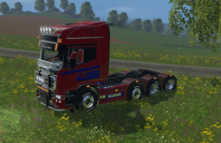Мод тягач SCANIA R560 8X4 Farming Simulator 15