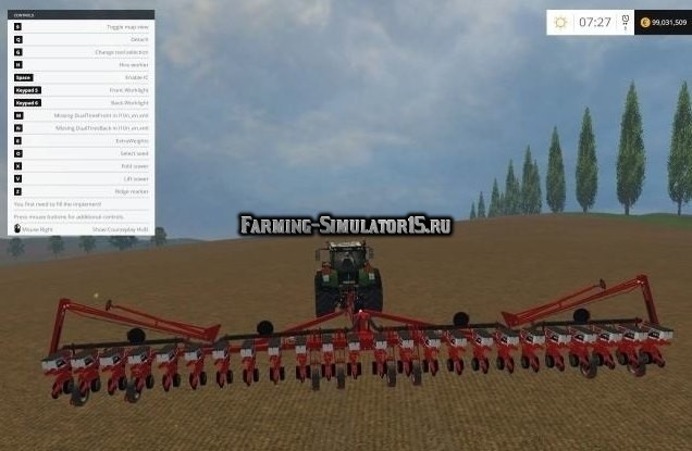 Мод сеялка White 9824 Planter v 2.0 Farming Simulator 2015