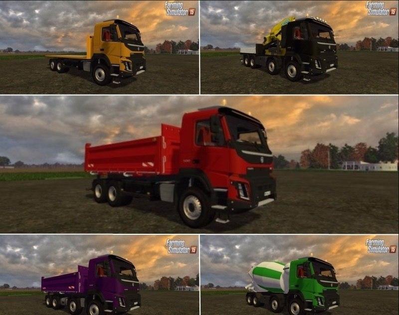 Мод грузовики Volvo FMX 500 Farming Simulator 2015