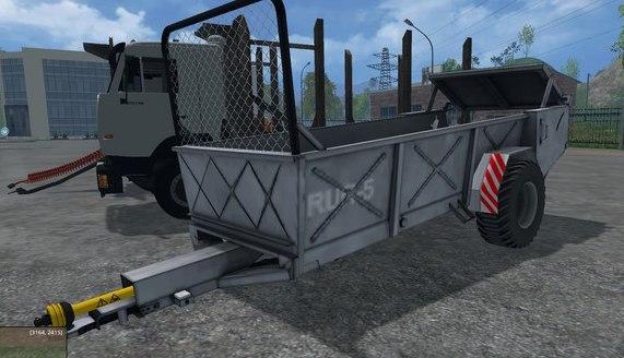 Мод прицеп Rozmetadlo RUR 5 Farming Simulator 2015