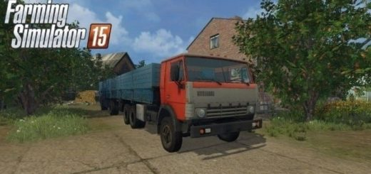Мод грузовик Камаз 53212 + ГКБ 8350 Фермер Симулятор 2015