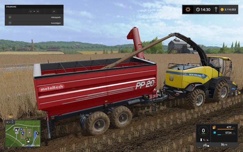 Мод прицеп Auger Wagon MetalTech PP 20 Pro v 4.0 Farming Simulator 2017
