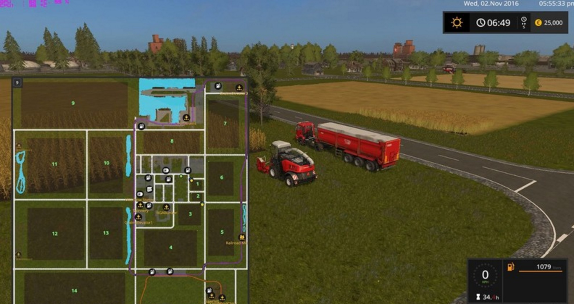Мод карта Canadian National Map Farming Simulator 17