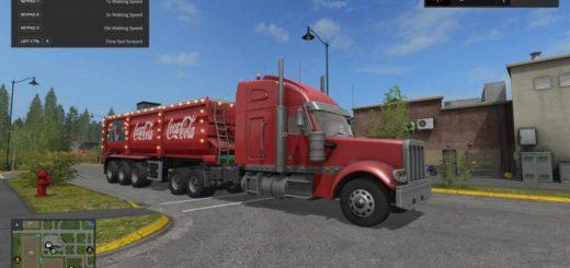 Мод прицеп Christmas Cola Trailer V 1.2 Farming Simulator 17