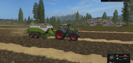 Мод тюкопресс Claas Quadrant 2200 RC v 0.9.1.7 Farming Simulator 2017