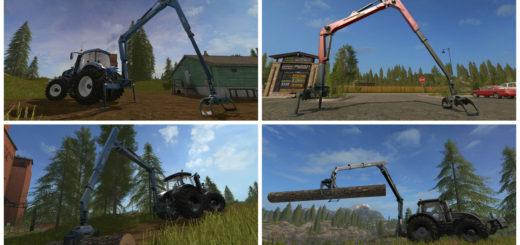 Мод Epsilon Palfinger M80F Mounted Crane for Tractors v 1.0 Farming Simulator 2017