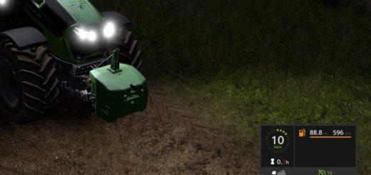 Мод скрипт FUEL USAGE DISPLAY V2.0 Farming Simulator 17