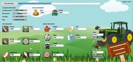 Savegame Editor v 1.0.0 Farming Simulator 2017